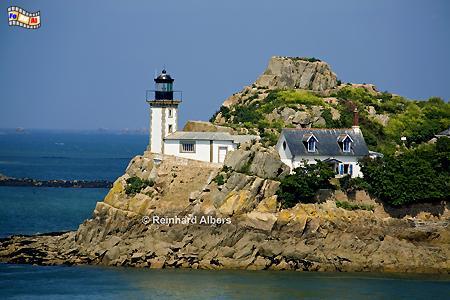 Bretagne - Île Louët in der Bucht von Morlaix, Leuchtturm, Frankreich, Bretagne, Louët, Morlaix, Albers, foreal