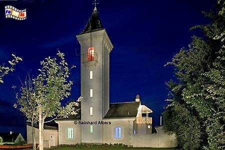 Bretagne - Der Leuchtturm von Tréhiguier gehört heute zur Gemeinde Pénestin., Leuchtturm, Frankreich, Bretagne, Tréhiguier, Pénestin, Albers, foreal, Foto