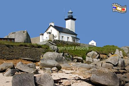 Bretagne - Pointe de Pontusval, Leuchtturm, Bretagne, Frankreich, Pointe, Pontusval, Albers, foreal, Foto