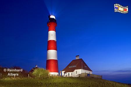 Westerhever auf der Halbinsel Eiderstedt, Leuchtturm, Schleswig-Holstein, Eiderstedt, Westerhever, Albers, foreal, Foto