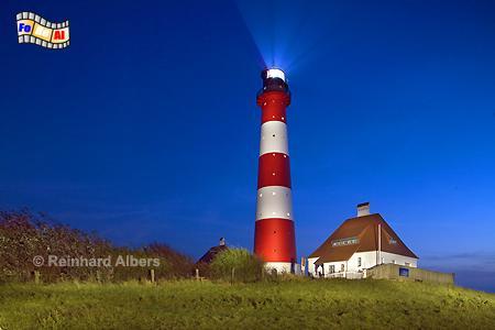 Westerhever auf der Halbinsel Eiderstedt., Leuchtturm, Schleswig-Holstein, Eiderstedt, Westerhever, Albers, foreal, Foto