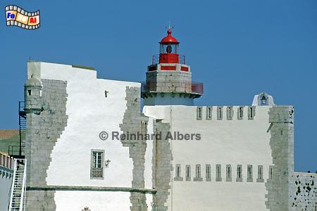 Portugal - Forte de Outão westlich von Setubal., Leuchtturm, Portugal, Setubal, Albers, foreal, Foto, Forte, Outão,