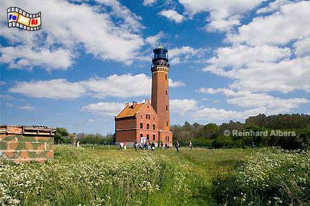 Greifswalder Oie in Mecklenburg-Vorpommern, Leuchtturm, Deutschland, Mecklenburg-Vorpommern, Greifwalder Oie, Albers, foreal, Foto