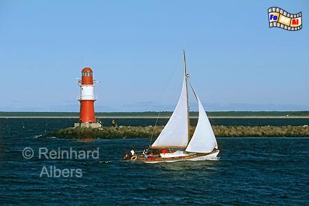 Mecklenburg-Vorpommern - Warnemünde Ostmole, Leuchtturm, Lighthouse, Phare, Mecklenburg-Vorpommern, Warnemünde, Warnow, Mole, Albers, foreal, Foto,