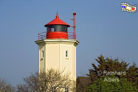 Westermarkelsdorf im Norden der Insel Fehmarn., Leuchtturm, Deutschland, Schleswig-Holstein, Ostseeküste, Fehmarn, Westermarkelsdorf