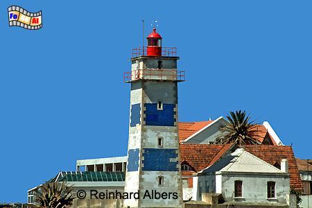 Cascais westlich von Lissabon, Leuchtturm, Portugal, Cascais, Foto, Albers, foreal, Farol