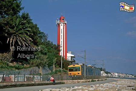 Oeiras an der Tejomündung bei Lissabon., Leuchtturm, Portugal, Lissabon, Tejomündung, Oeiras, Farol, Albers, Foto, foreal