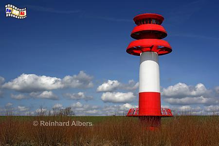 Hollerwettern (neu) an der Elbe in Schleswig-Holstein, Leuchtturm, Lighthouse, Hollerwettern, Albers, foreal