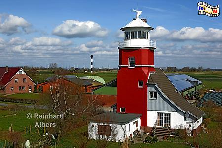 Hollerwettern (alt) an der Elbe in Schleswig-Holstein., Leuchtturm, Lighthouse, Hollerwettern, Albers, foreal