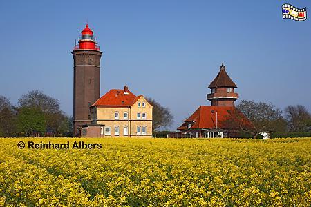 Dahmeshöved in Ostholstein, Leuchtturm, Deutschland, Schleswig-Holstein, Ostseeküste, Dahmeshöved, Raps, foreal, Albers