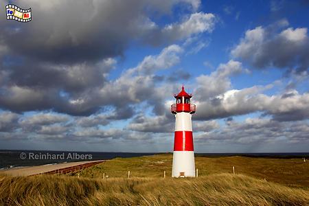 Insel Sylt - Abendstimmung am Ellenbogen mit dem Leuchtturm List Ost., Leuchtturm, Lighthouse, Ellenbogen, Sylt, List, Ost, foreal, Albers