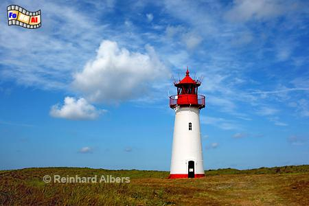 List West auf der Insel Sylt am Ellenbogen., Leuchtturm, Lighthouse, Ellenbogen, Sylt, List West, foreal, Albers,