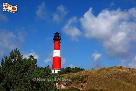 Hörnum auf der Insel Sylt, Leuchtturm, Lighthouse, Phare, Sylt, Hörnum, foreal, Albers, Foto,