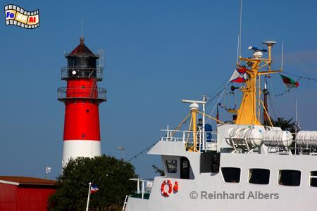 Büsum in Dithmarschen, Leuchtturm, Lighthouse, Phare, Deutschland, Schleswig-Holstein, Nordseeküste, Büsum, Hafen, foreal, Albers, Foto,