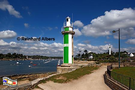 Bénodet in der Bretagne, Leuchtturm, Lighthouse, Phare, Bénodet, Bretagne, foreal, Albers, Foto,