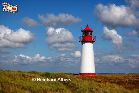 List West auf der Insel Sylt am Ellenbogen., Leuchtturm, Lighthouse, Ellenbogen, Sylt, List West, foreal, Albers