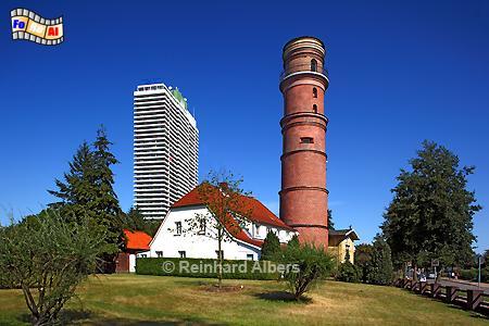 Lübeck-Travemünde - Der Leuchtturm aus dem Jahr 1539 ist der älteste Deutschlands., Leuchtturm, Lighthouse, Phare, Travemünde, Ostseeküste, Lübeck, foreal, Foto, Albers,