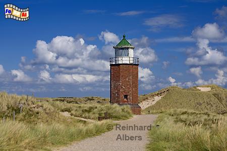 Insel Sylt - Das ehemalige Quermarkenfeuer bei Kampen ist mittlerweile nicht mehr in Betrieb., Leuchtturm, Lighthouse, Phare, Farol, Sylt, Kampen, foreal, Albers, Foto,