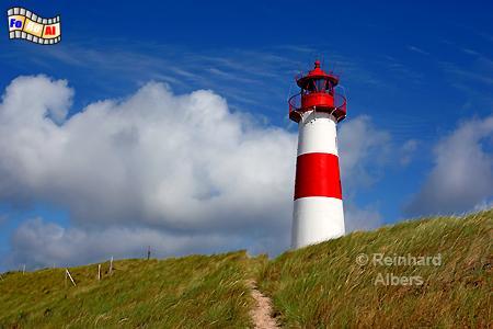 List Ost auf dem Ellenbogen der Insel Sylt., Leuchtturm, Lighthouse, Phare, Sylt, List, Ost, Ellenbogen, foreal, Albers,