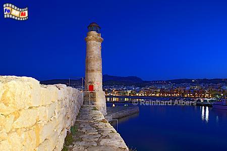 Kreta - Rethimnon, Leuchtturm, Lighthouse, Phare, Kreta, Rethimnon, foreal, Albers, Foto,