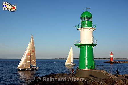 Warnemünde Westmole, Leuchtturm, Lighthouse, Phare, Mecklenburg, Warnemünde, Molenfeuer, foreal, Albers, Foto,