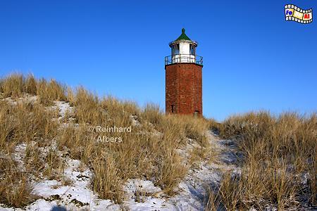 Insel Sylt - Quermarkenfeuer bei Kampen im Winter., Leuchtturm, Lighthouse, Phare, Farol, Sylt, Kampen, foreal, Albers, Foto,