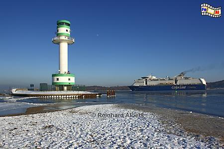 Leuchtturm Kiel-Friedrichsort im Januar 2010., Leuchtturm, Lighthouse, Phare, Farol, Deutschland, Schleswig-Holstein, Kieler Förde, Friedrichsort, foreal, Foto, Albers,