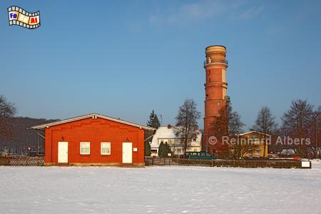Lübeck Travemünde im Winter., Leuchtturm, Lighthouse, Phare, Travemünde, Ostseeküste, Lübeck, foreal, Foto, Albers,