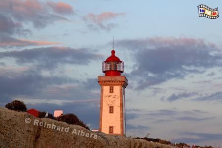 Portugal - Leuchtturm Alfanzina östlich von Carvoeiro in der Algarve., Leuchtturm, Portugal, Algarve, Carvoeiro, Alfanzina, Albers, foreal, Foto,