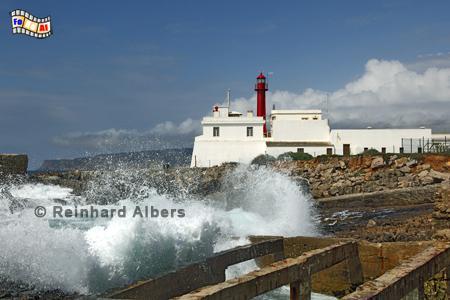 Portugal - Cabo Raso., Leuchtturm, Portugal, Cabo Raso, Albers, foreal, Foto, Farol,