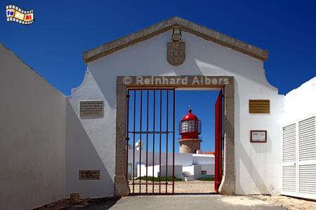 Südwestspitze Portugals mit dem Leuchtturm am Cabo São Vicente., Leuchtturm, Portugal, Algarve, Vicente, Albers, Foto, foreal, Farol,