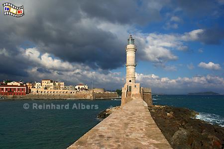 Chania auf der Insel Kreta., Leuchtturm, Lighthouse, Kreta, Chania, foreal, Albers,