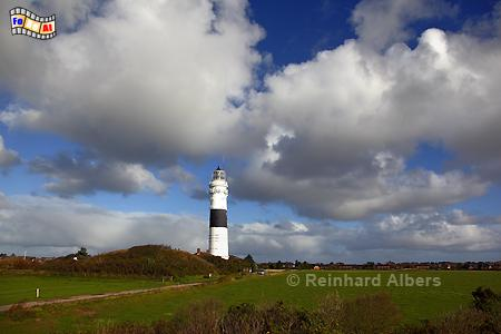 Insel Sylt: Leuchtturm bei Kampen., Leuchtturm, Lighthouse, Phare, Kampen, Sylt, foreal, Albers, Foto,