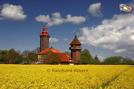 Dahmeshöved in Ostholstein, Leuchtturm, Deutschland, Schleswig-Holstein, Ostseeküste, Dahmeshöved, Raps, Albers, foreal, Foto
