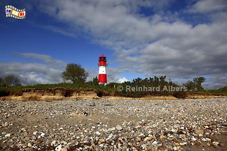 Leuchtturm Falshöft an der Ostseeküste in der Landschaft Angeln, Schleswig-Holstein., Leuchtturm, Ostseeküste, Lighthouse, Phare, Falshöft, Pommerby, Albers, Foto, foreal,