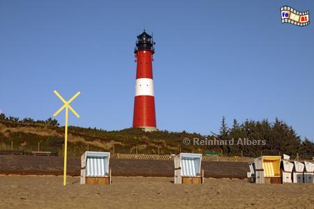Leuchtturm von Hörnum auf der Insel Sylt., Leuchtturm, Lighthouse, Phare, Sylt, Hörnum, foreal, Albers, Foto,