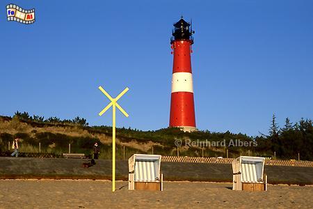 Der Leuchtturm von Hörnum in der Morgensonne., Leuchtturm, Lighthouse, Phare, Sylt, Hörnum, foreal, Albers, Foto,