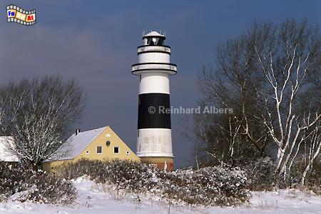 Der Leuchtturm von Bülk bei Kiel im Winter., Leuchtturm, Deutschland, Schleswig-Holstein, Ostseeküste, Kiel, Bülk, Albers, Foto, foreal,