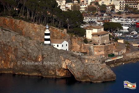 Mallorca - Port de Sòller, Leuchtturm, Lighthouse, Phare, Far, Mallorca, Port, Soller, Foto, Albers, foreal,