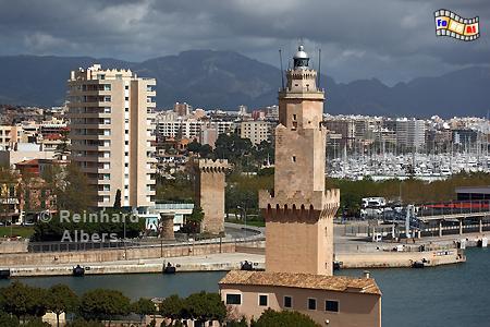 Palma de Mallorca, Porto Pi., Leuchtturm, Lighthouse, Phare, Far, Mallorca, Palma, Porto Pi, Foto, Albers, foreal,