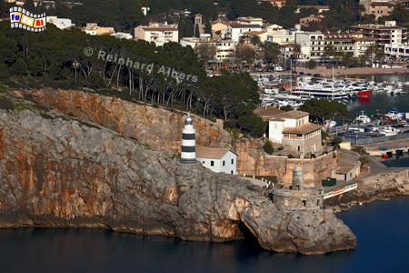 Mallorca - Port de Sòller., Leuchtturm, Lighthouse, Phare, Far, Mallorca, Port, Soller, Foto, Albers, foreal,