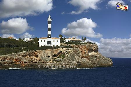 Mallorca - Portocolom, Leuchtturm, Lighthouse, Phare, Far, Mallorca, Portocolom, Foto, Albers, foreal,