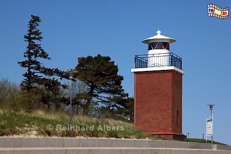 Leuchtturm in Wyk auf Föhr, Leuchtturm, Nordseeküste, Föhr, Wyk, Albers, Foto, foreal,