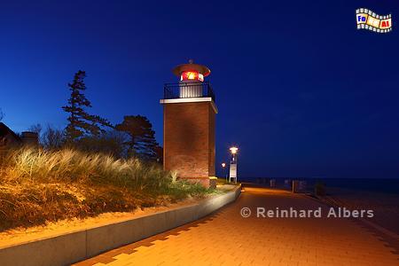 Blaue Stunde beim Leuchtturm in Wyk auf Föhr., Leuchtturm, Nordseeküste, Föhr, Wyk, Albers, Foto, foreal,