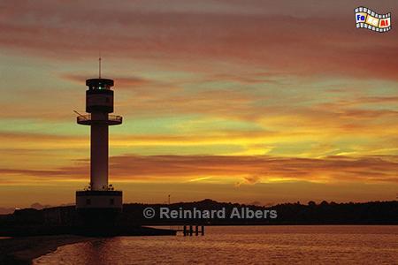 Morgenrot am Leuchtturm von Kiel-Friedrichsort, Leuchtturm, Lighthouse, Phare, Farol, Deutschland, Schleswig-Holstein, Kieler Förde, Friedrichsort, Morgenrot, foreal, Foto, Albers,