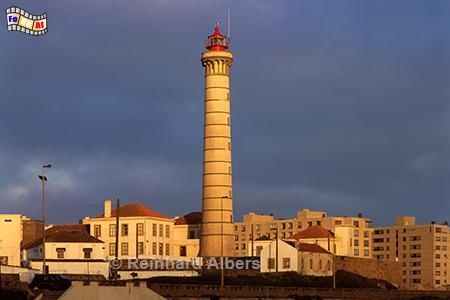 Leça da Palmeira nördlich von Porto., Leuchtturm, Portugal, Porto, Leca, Foto, foreal. Albers, Farol,