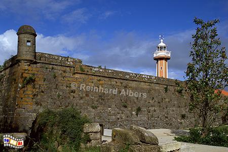 Leuchtturm in historischer Festung in Viana do Castelo, Leuchtturm, Portugal, Viana do Castelo, Farol, Albers, Foto, foreal,