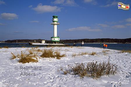 Winter am Leuchtturm von Kiel Friedrichsort, Leuchtturm, Deutschland, Schleswig-Holstein, Ostseeküste, Kieler Förde, Kiel, Friedrichsort, Kiel-Friedrichsort, Albers, Foto, foreal,
