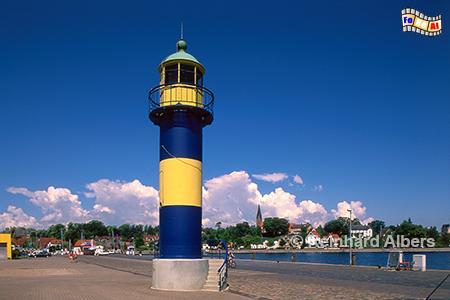 Alter Leuchtturm am Hafen von Eckernförde, Leuchtturm, Deutschland, Schleswig-Holstein, Eckernförde, Ostsee, Albers, Foto, foreal, Bucht, Hafen,