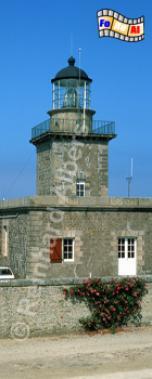 Carteret in der Normandie., Leuchtturm, Frankreich, Normandie, Carteret